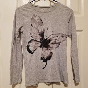 Long sleeved butterfly shirt
